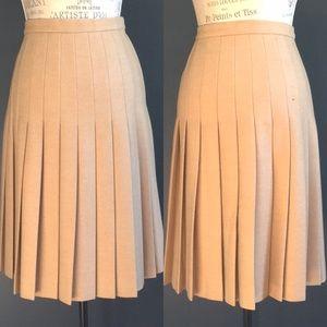 Vintage Valentino Wool Pleated Skirt